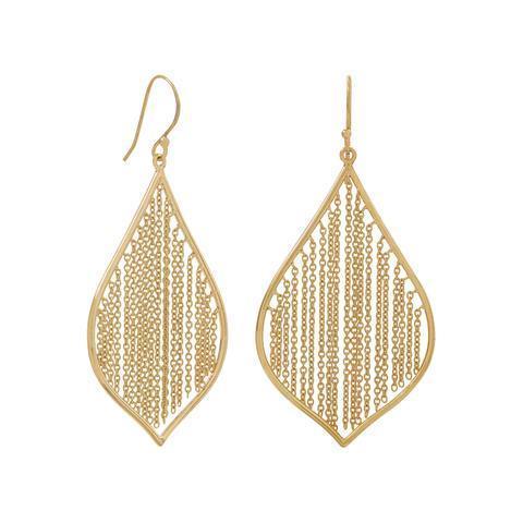 Pebble and Rose 14K Gold Fringe Earrings