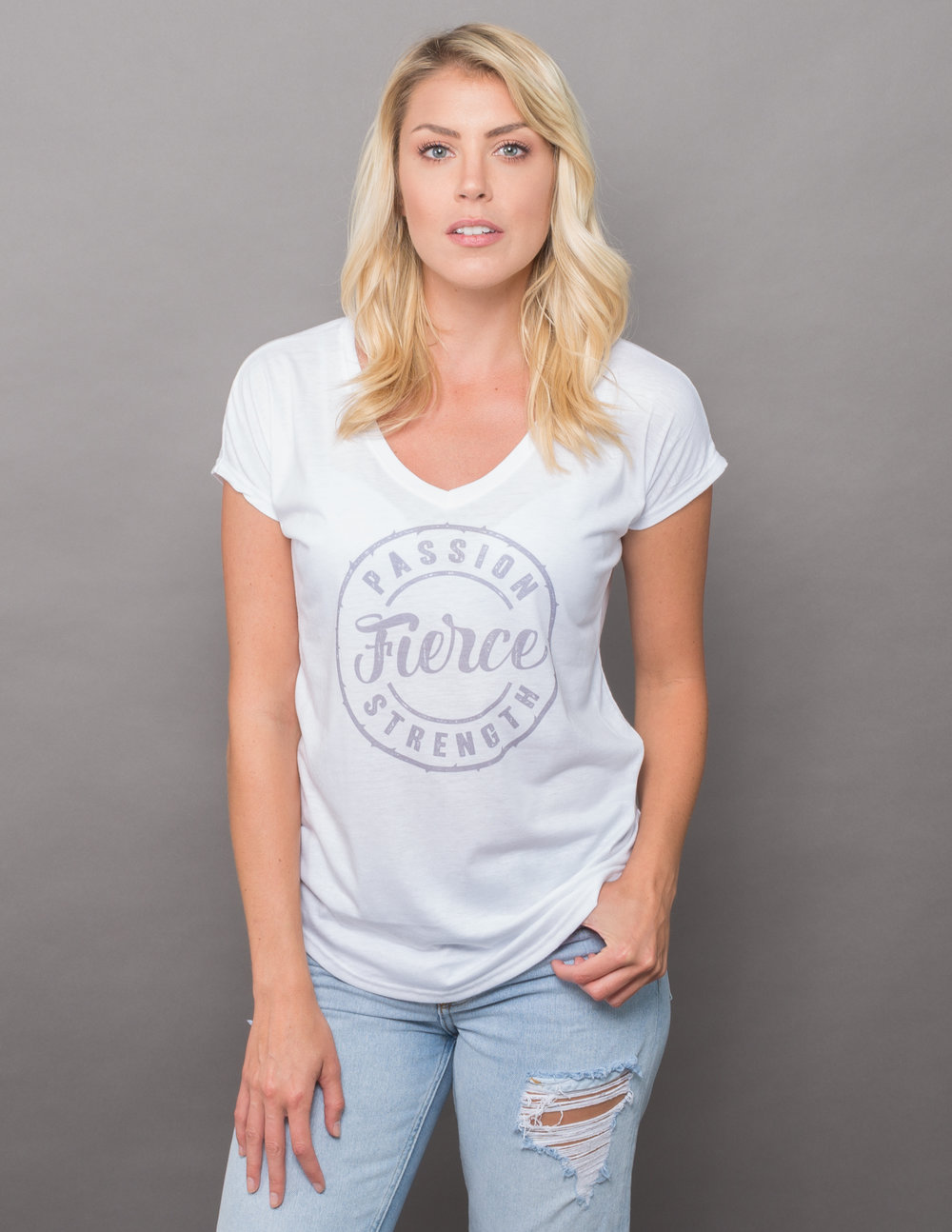 pebble and rose Fierce T shirt