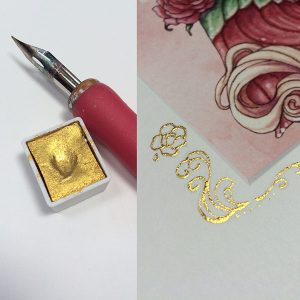 Kremer gold used in a pen nib