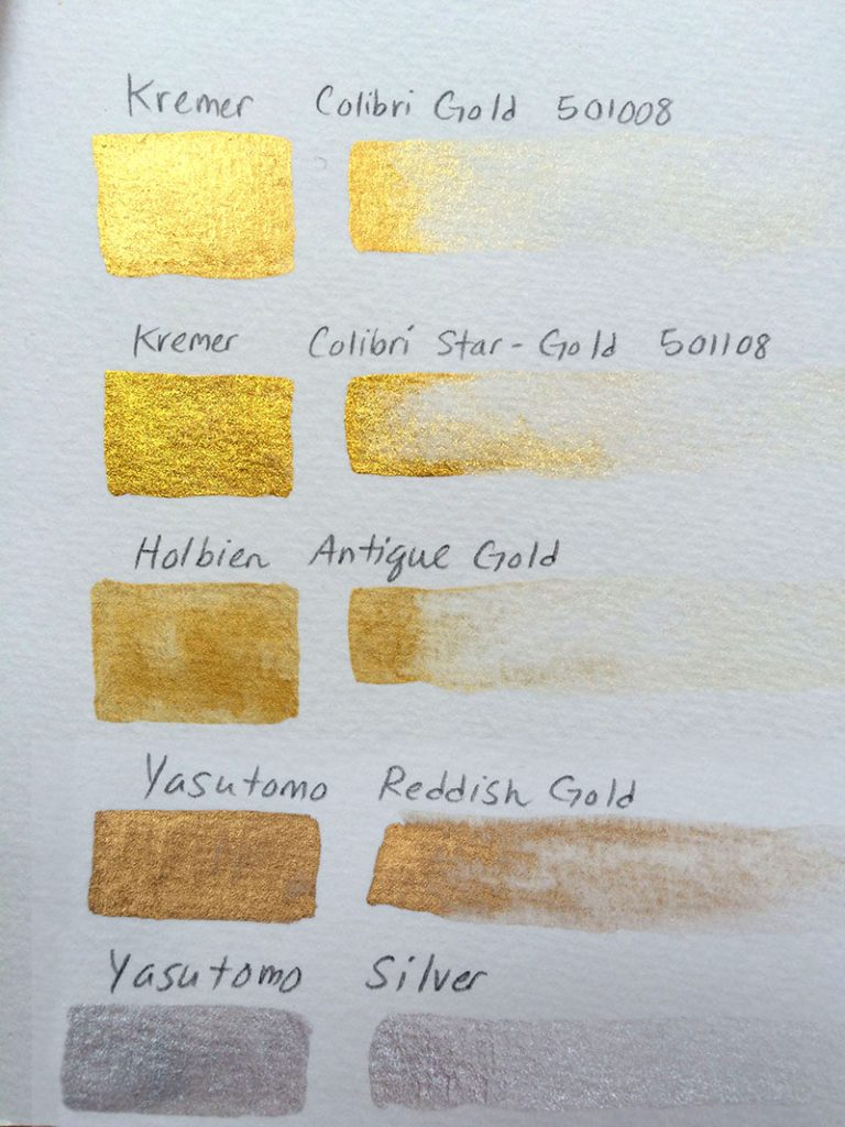 Various paints on white