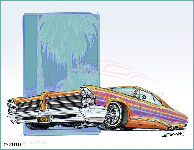 "'65 Catalina Lowrider  (8x10-020)  8 x 10"" includes white framing border"