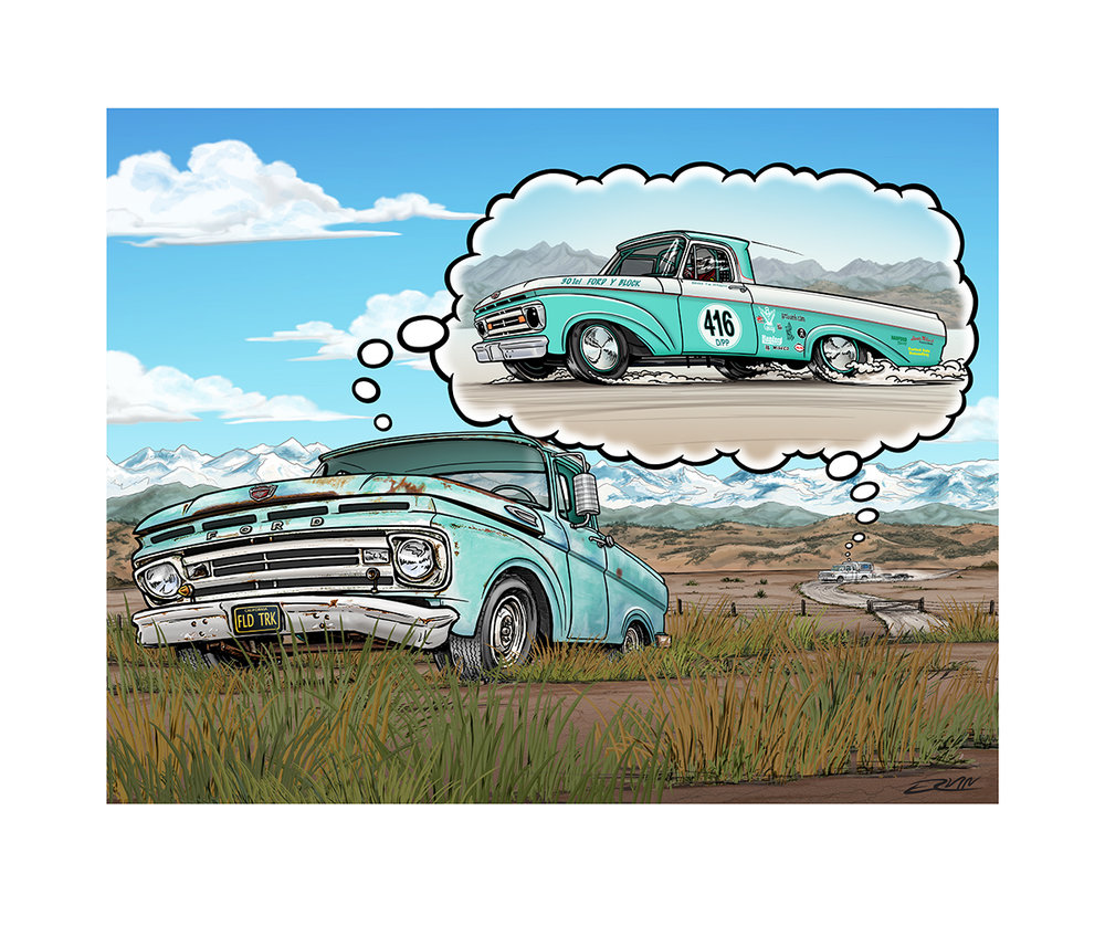 "'Field Truck'  Dreamer   No.4  18 x 24"" $150.00 Signed and numbered limited to 120 copies"