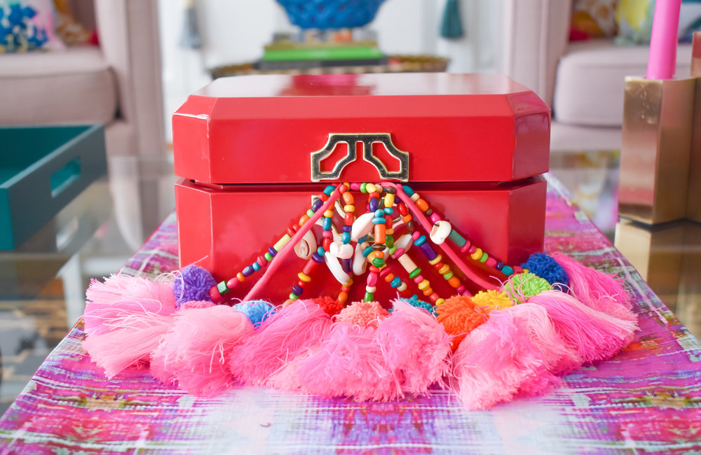Multicolor Tassles:  Boho Luxe Home