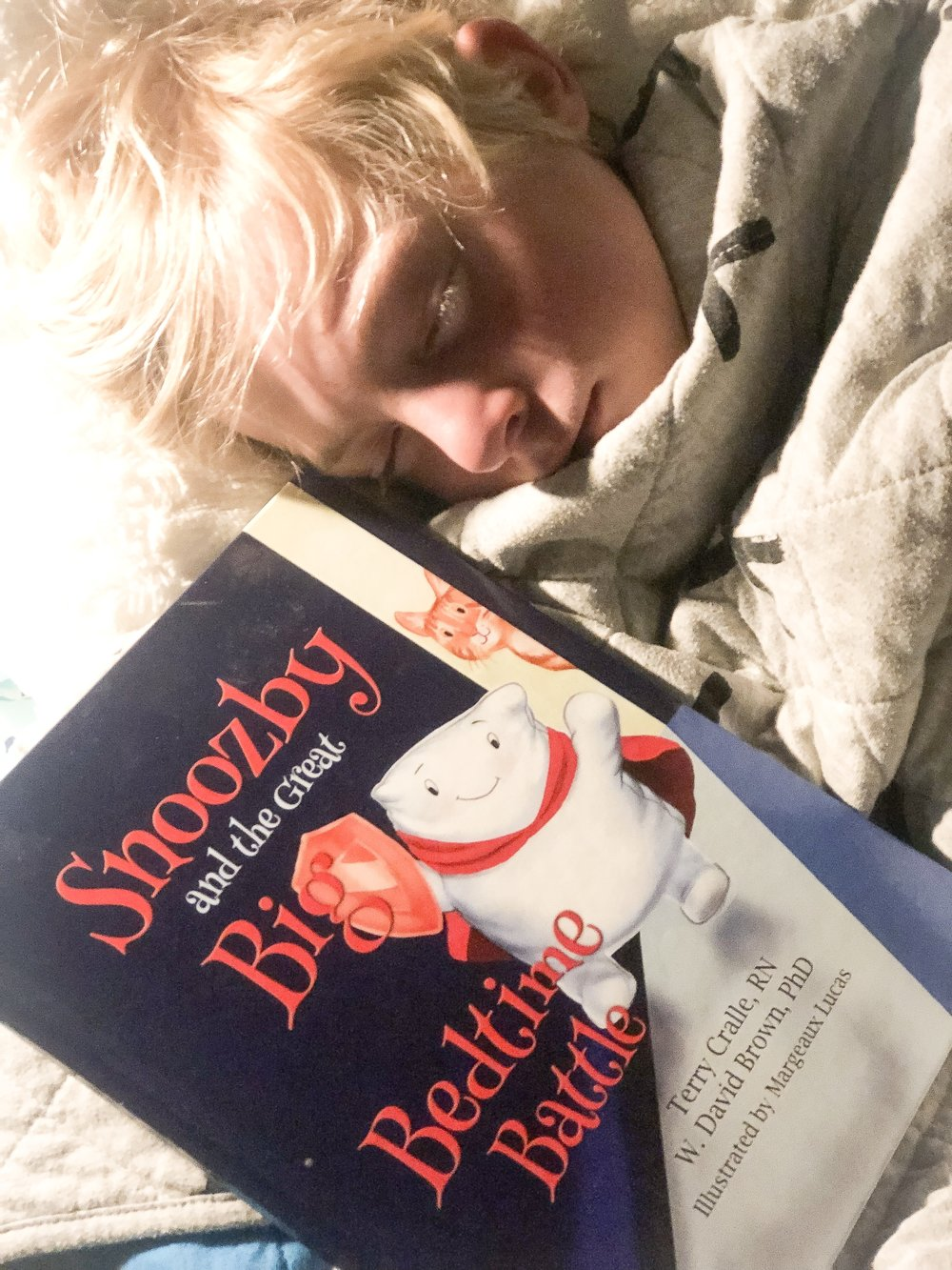 Henry loves reading this book on his own.  Snoozby and the Great Big, Bedtime Battle