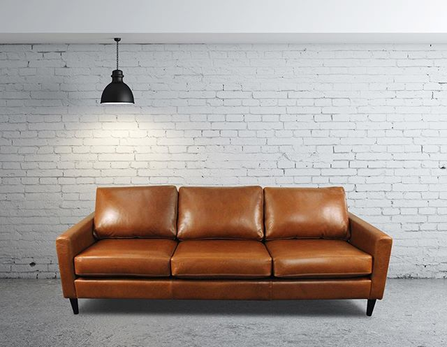This waxed Aniline leather by Tasman Leather NZ allows for the natural characteristics of the hide to be visible. That's why this Giorgio 3 seater looks so unique!  Model: Giorgio 3 seater Material: @wortleygroup Tasman Leather NZ Settler Tapa