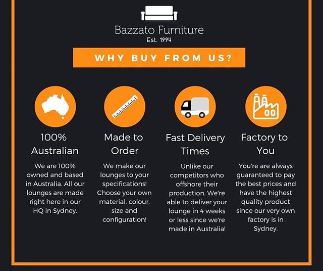 The Bazzato Furniture Difference!