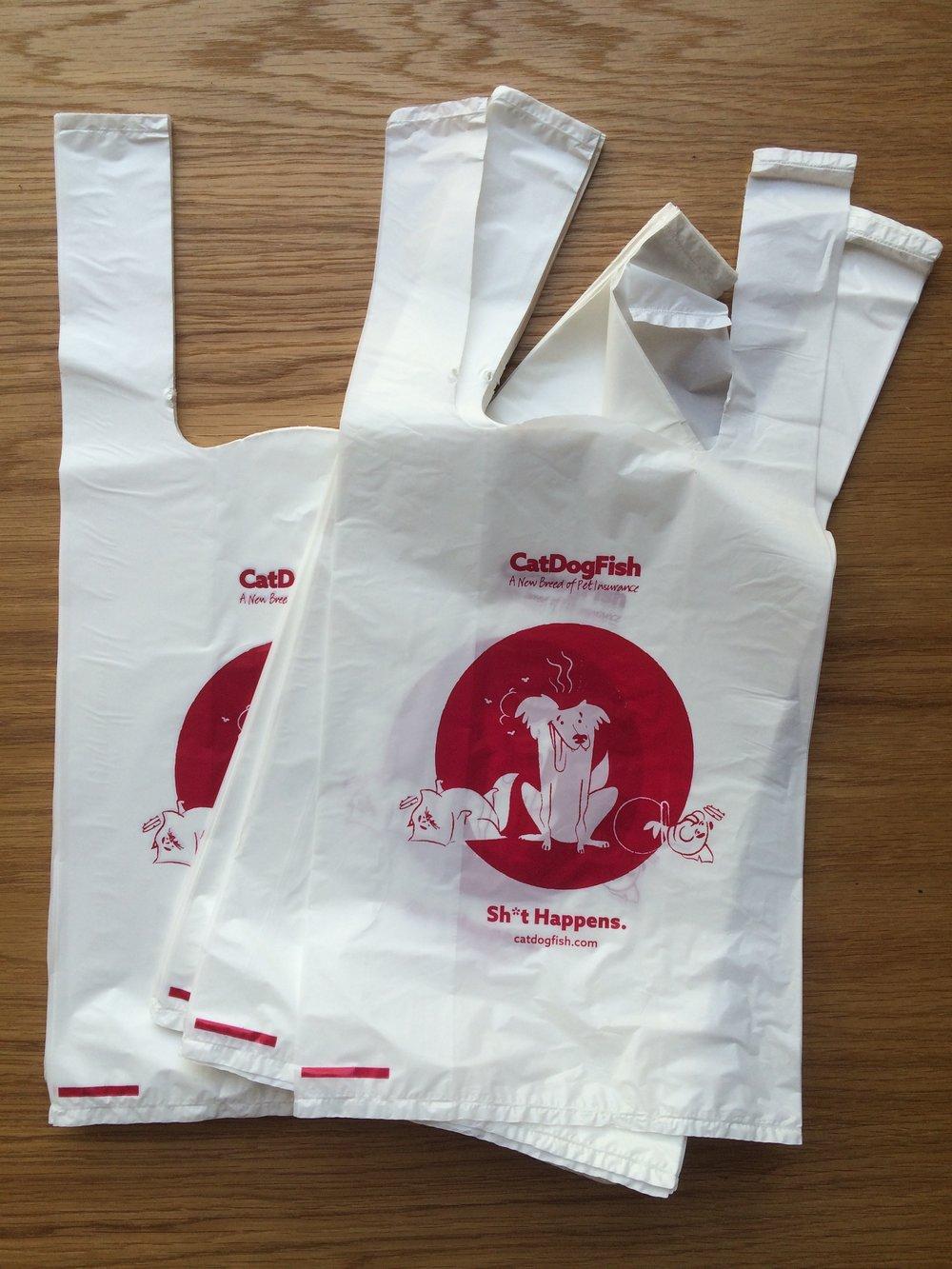 Branded dog poop bags