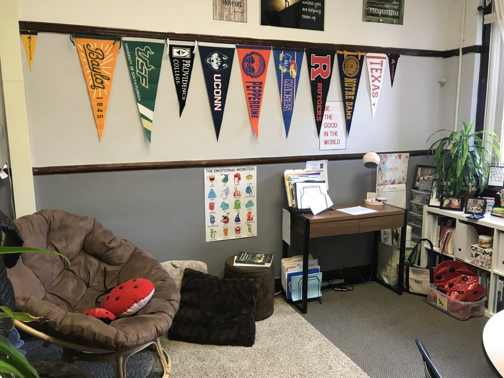 Our counseling room is designed to provide students with a comfortable and relaxing environment. Students can use the room to talk, relax, cool off, or refresh.