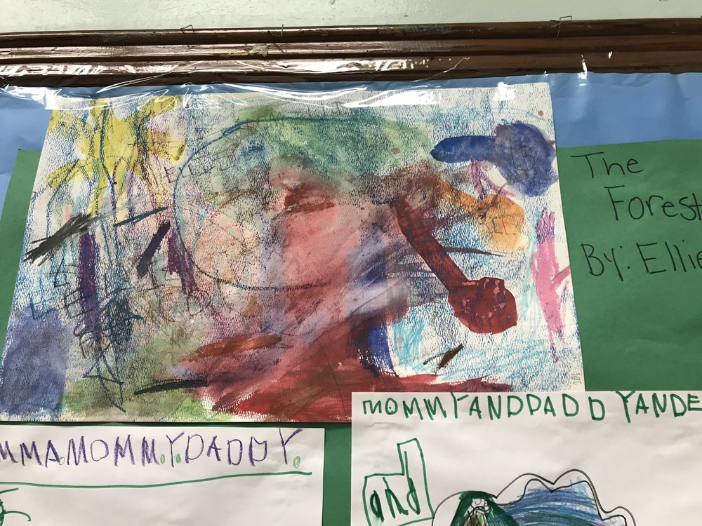 Parents and families are a frequent subject of our students' work.