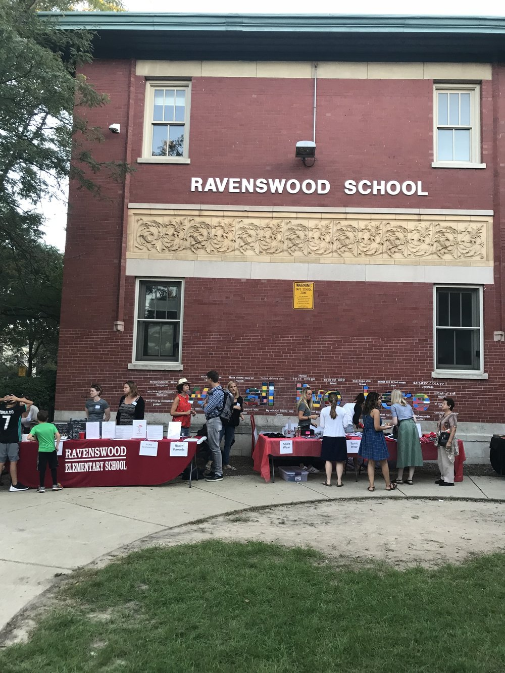 We host a Back to School BBQ designed to re-introduce our community and provide parents with information on many of the programs available at Ravenswood.