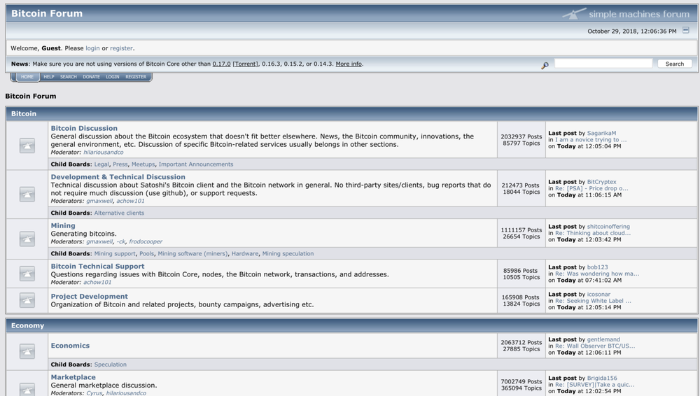 Image 1: Screenshot of Bitcointalk forum