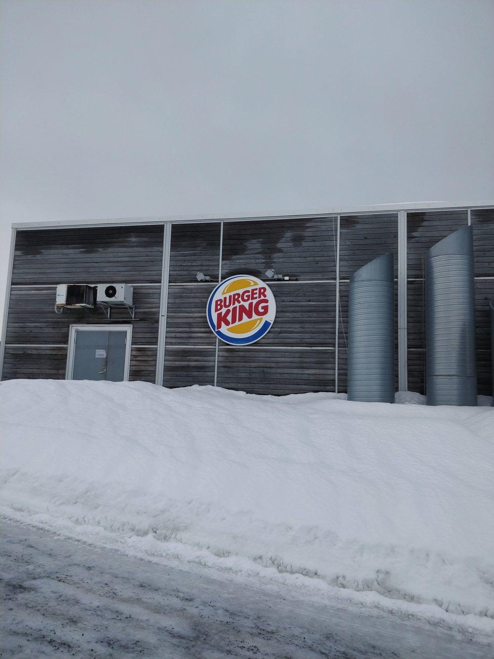 Verdas nordligaste BK/Northernmost Burger King in the world