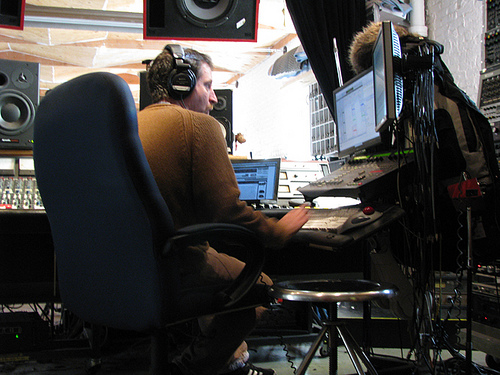 Bryce Goggin mixing Boy From Black Mountain in 2008-09