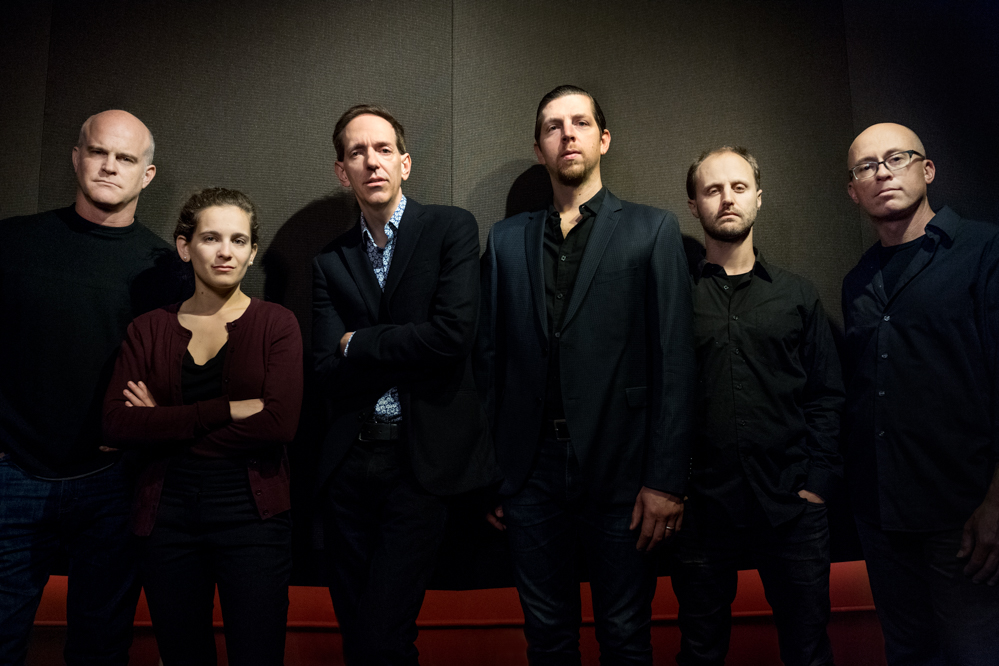 These Wicked Things  band in 2018 (Gavin McCarthy, Abigale Reisman, Brian Carpenter, Paul Dilley, Alec Spiegelman, Andrew Stern), photo by Liz Linder