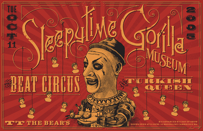 OCT 11 2005 TT THE BEARS CAMBRIDGE MA WITH SLEEPYTIME GORILLA MUSEUM, TURKISH QUEEN