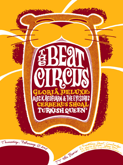 FEB 17 2005 TT THE BEARS CAMBRIDGE MA w/GLORIA DELUXE, ALEC K REDFEARN, CERBERUS SHOAL, TURKISH QUEEN.