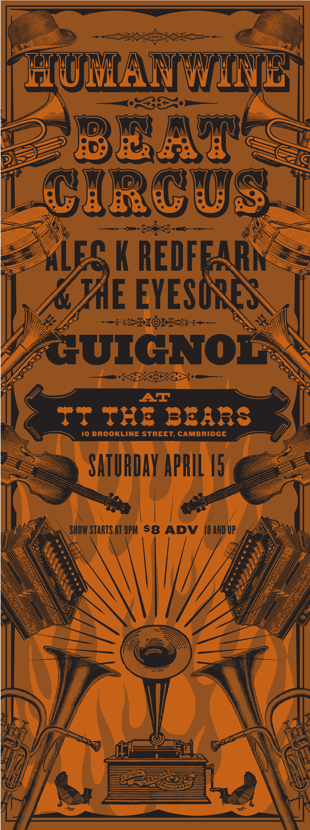 SAT APR 15 2006 TT THE BEARS CAMBRIDGE MA w/HUMANWINE, GUIGNOL, ALEC K REDFEARN. BY LURE DESIGN