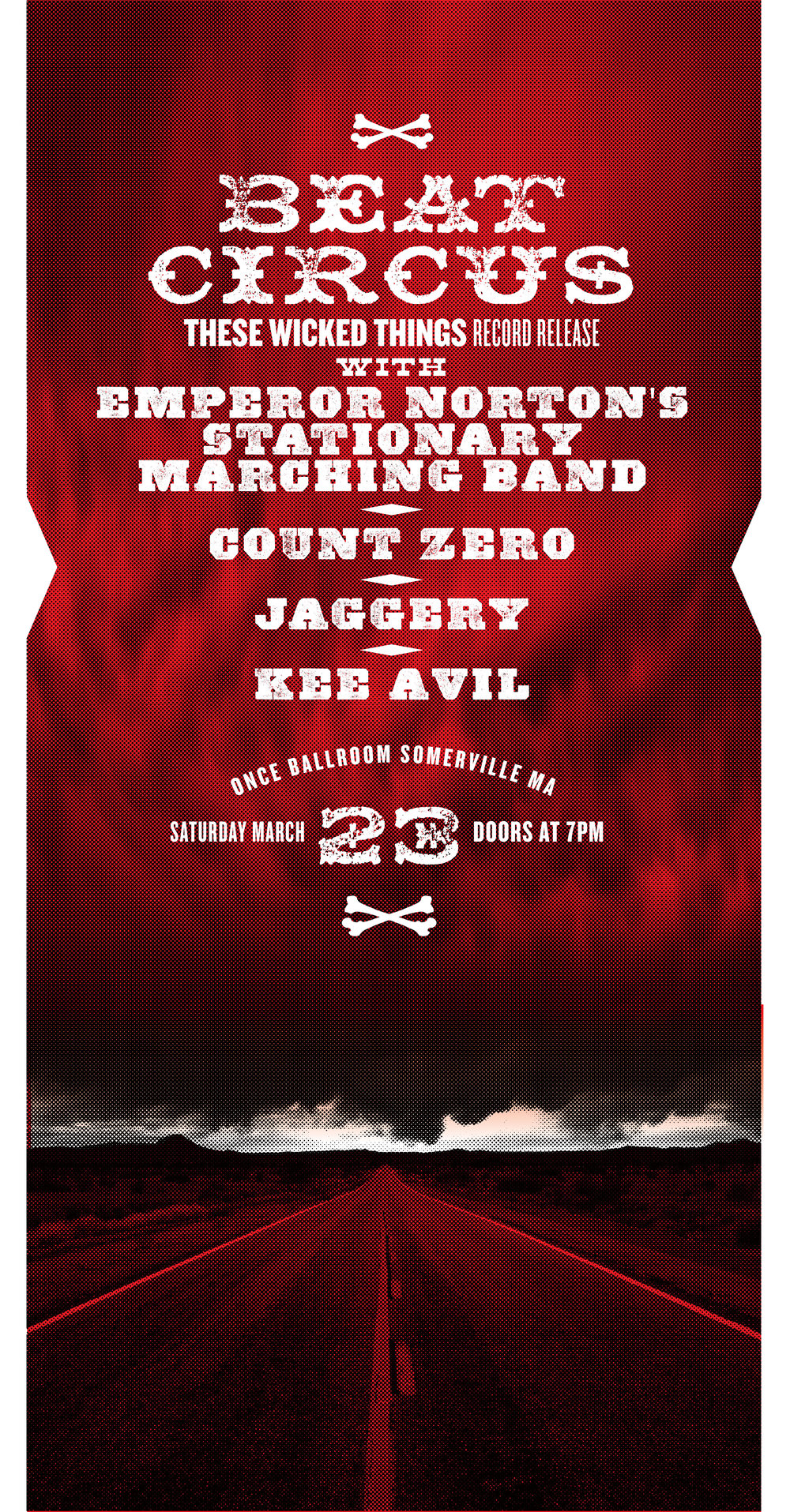 MARCH 23 2019 ONCE BALLROOM SOMERVILLE MA w/COUNT ZERO, JAGGERY, EMPEROR NORTON, KEE AVIL. BY LURE DESIGN