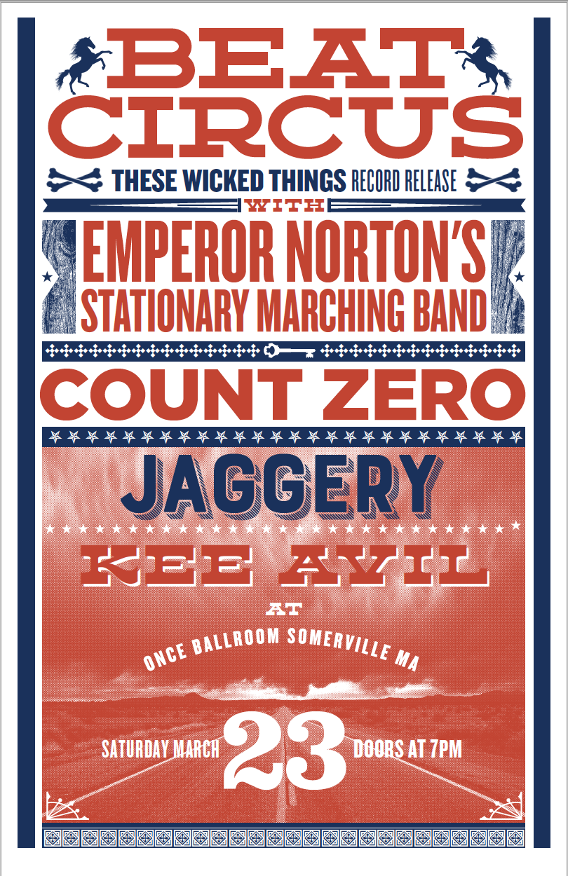 MAR 23 2019 ONCE BALLROOM SOMERVILLE MA w/COUNT ZERO, JAGGERY, EMPEROR NORTON, KEE AVIL. BY LURE DESIGN