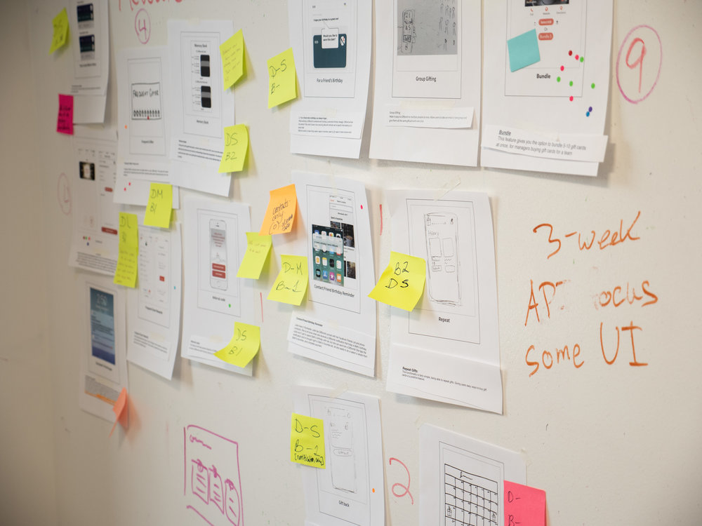 Feature Cards with notes from the Business & Development Teams