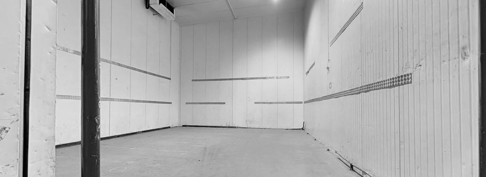 STAGE 1 | 1,426 SQ. FT. - Space dimensions: 12.5m long x 10.6m wide x 9.0m highTotal area: 1,426 sq. ft.Located at the rear of the Popup Studios site in Inchicore with convenient access to wardrobe, dressing rooms, make up with easy access to ample on-site parking, production offices and canteen facilities.