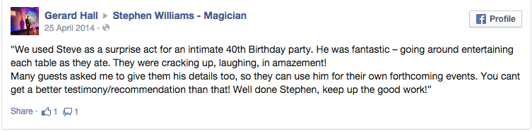 Review for the Liverpool Magician