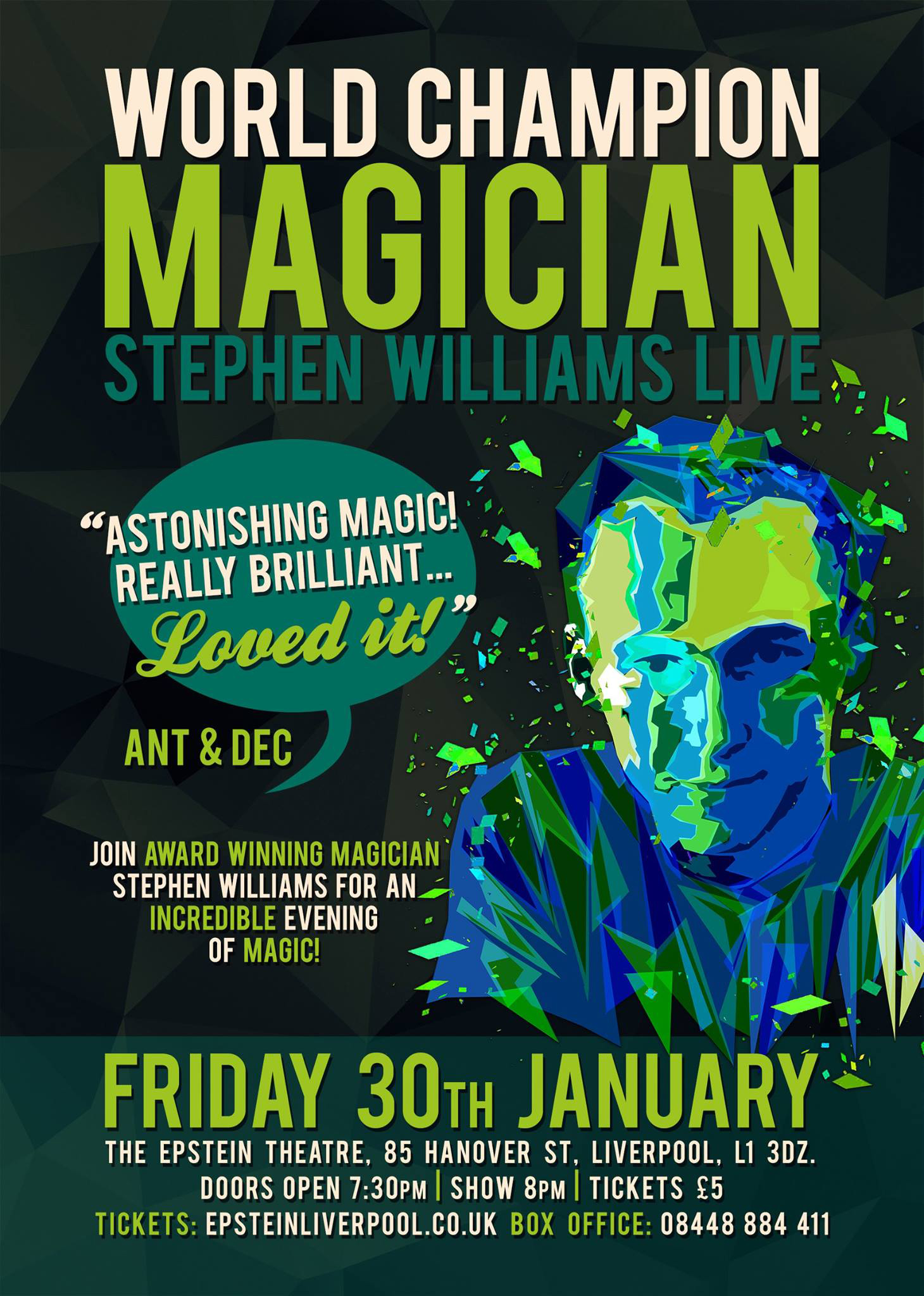 Stephen Williams Jr - Epstein Theatre Poster