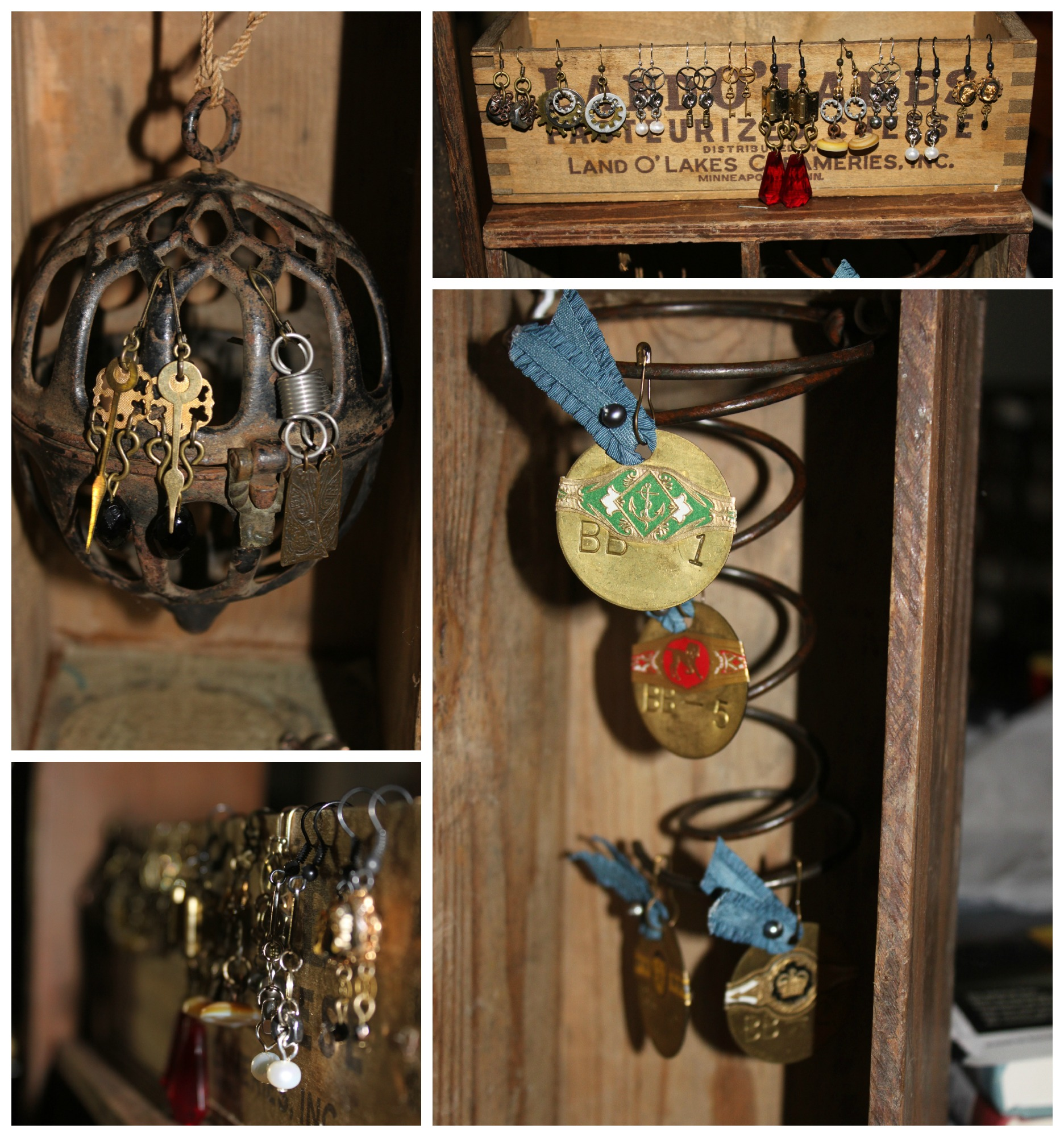 Steampunk Jewelry Display Style No. 1 Collage