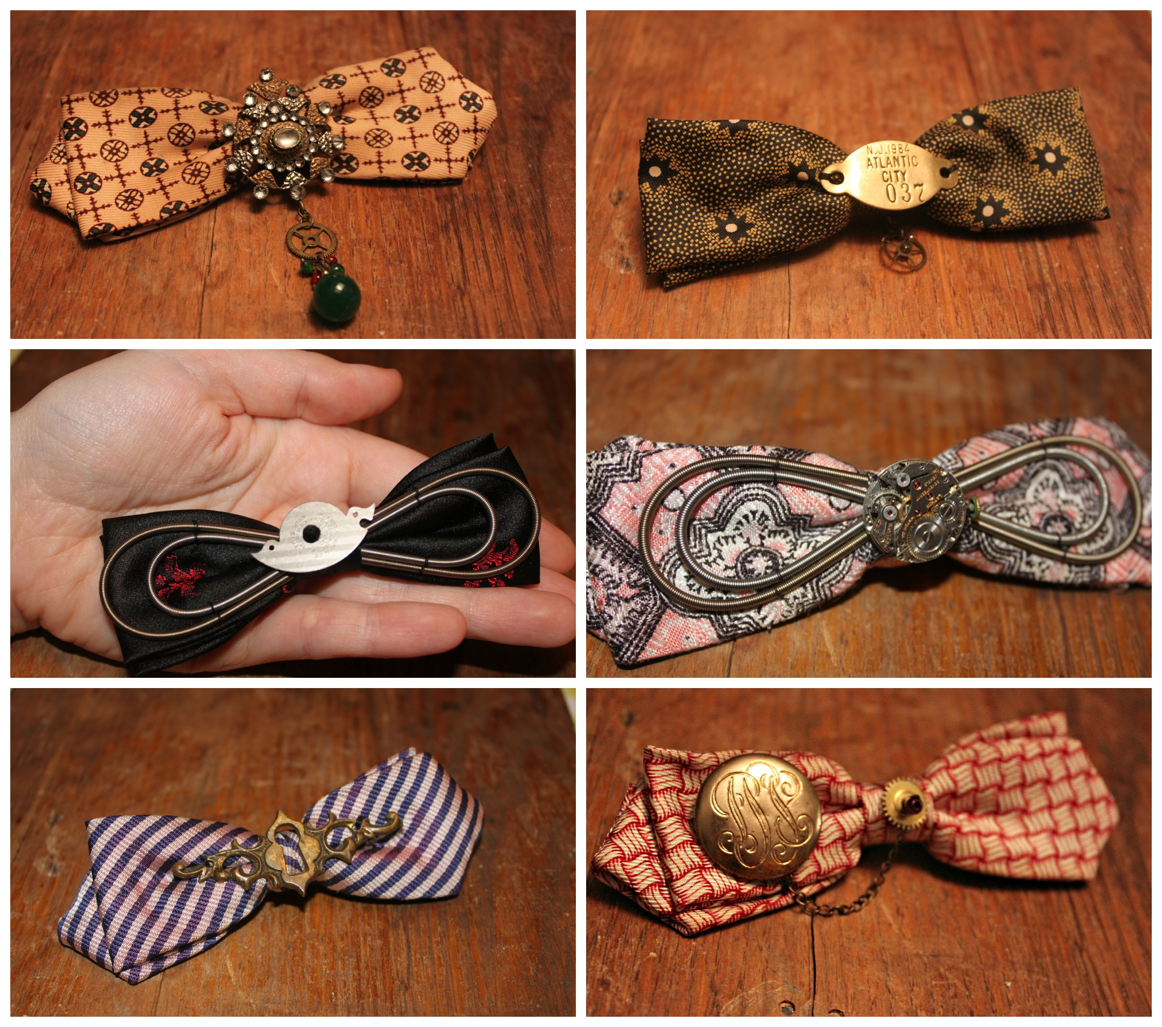 New Steampunk Bow Ties Collage