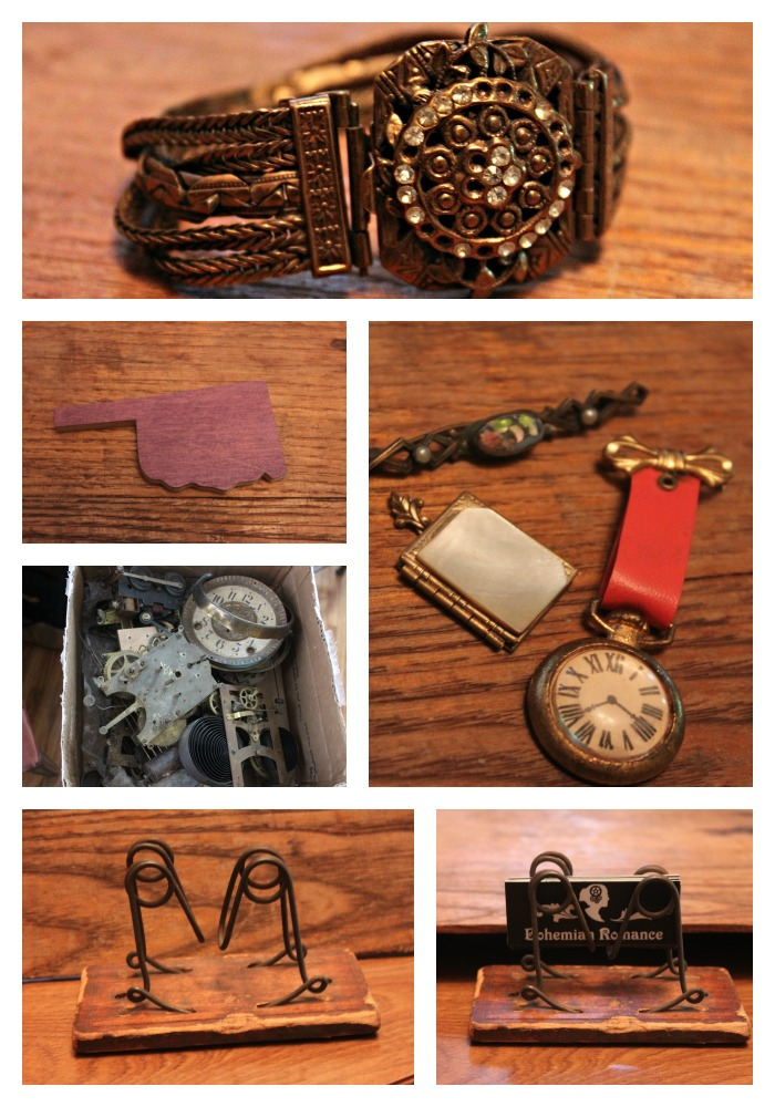 flea market finds Collage