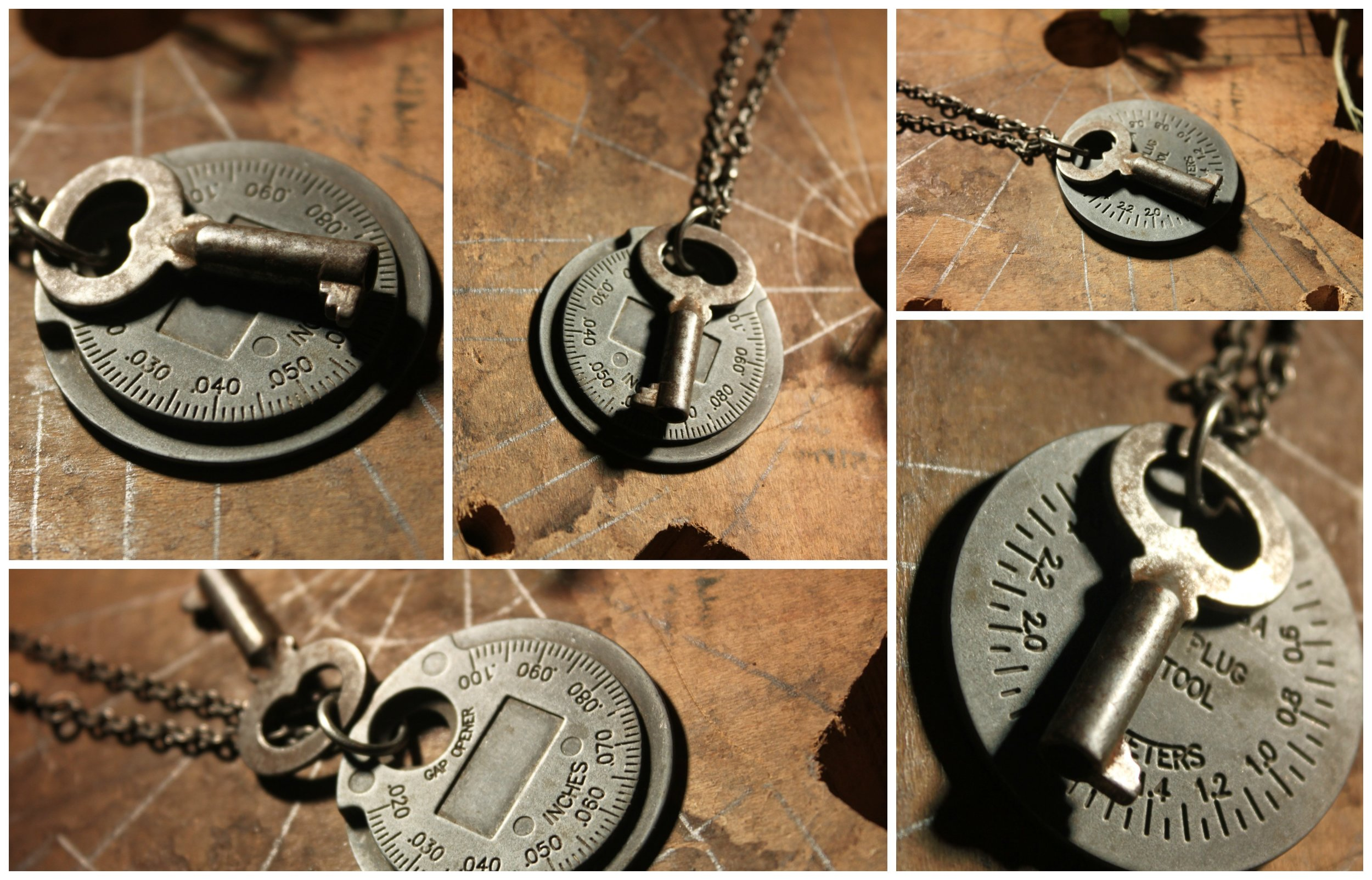 Reversible Mechanic Necklace Collage