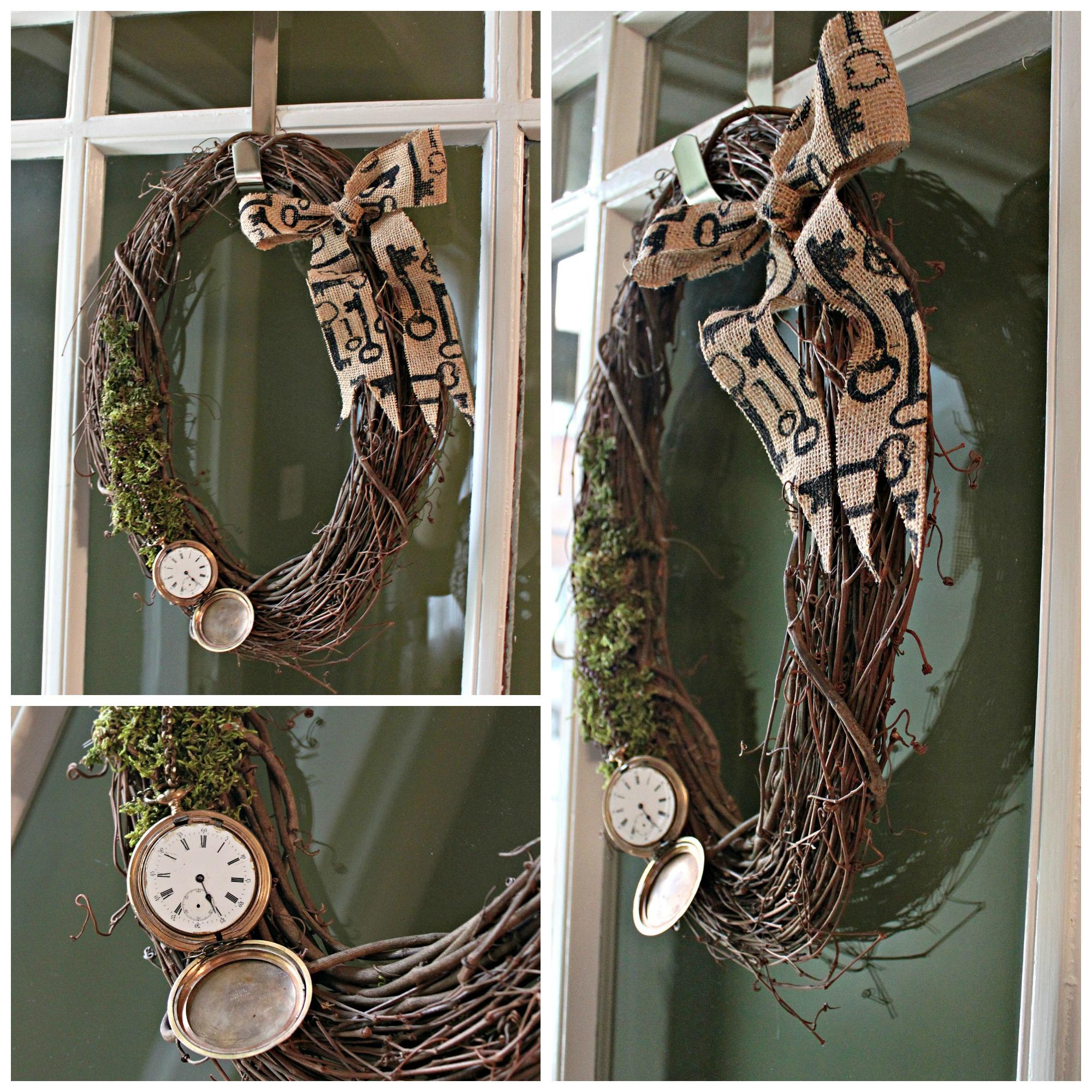 Steampunk Wreath DIY Collage