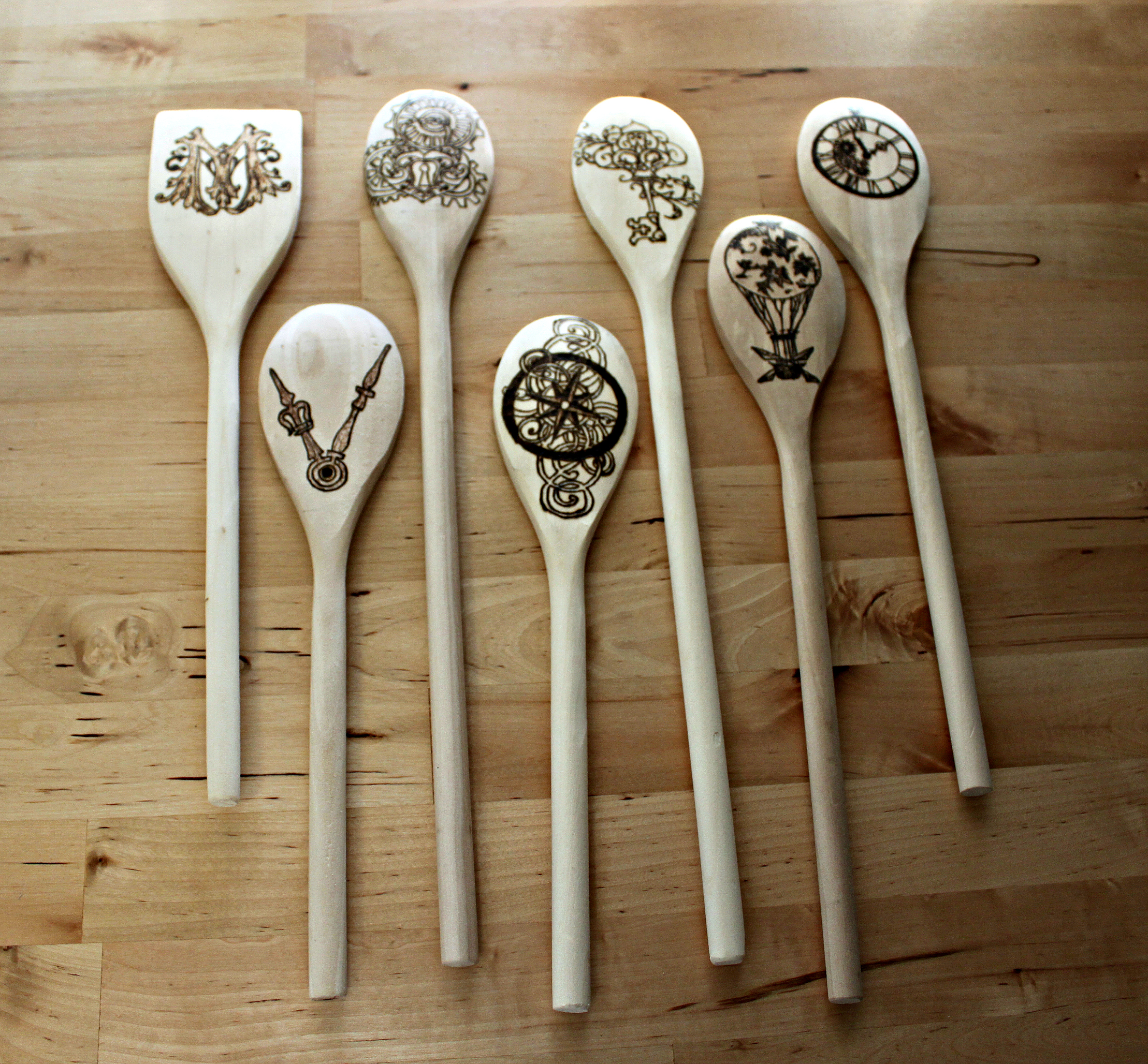 Steampunk Wedding Spoon Set