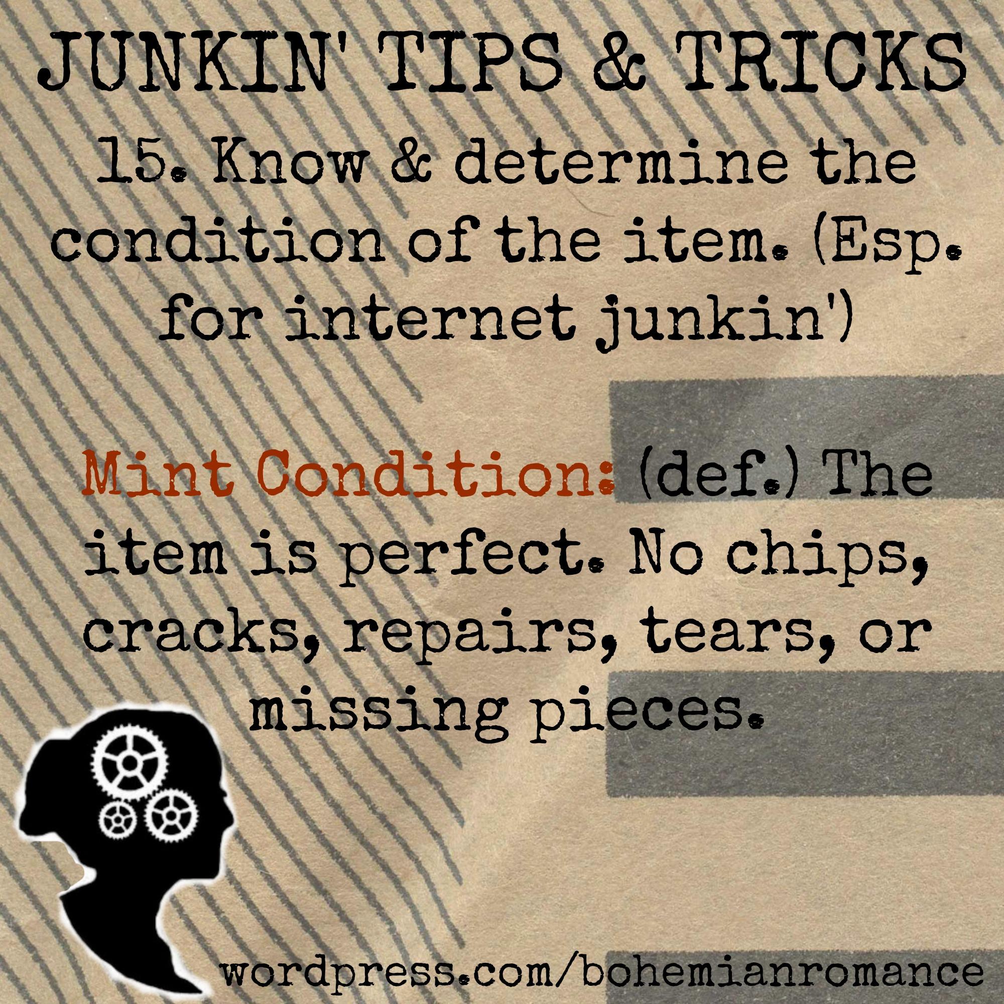 Junkin Tips 15