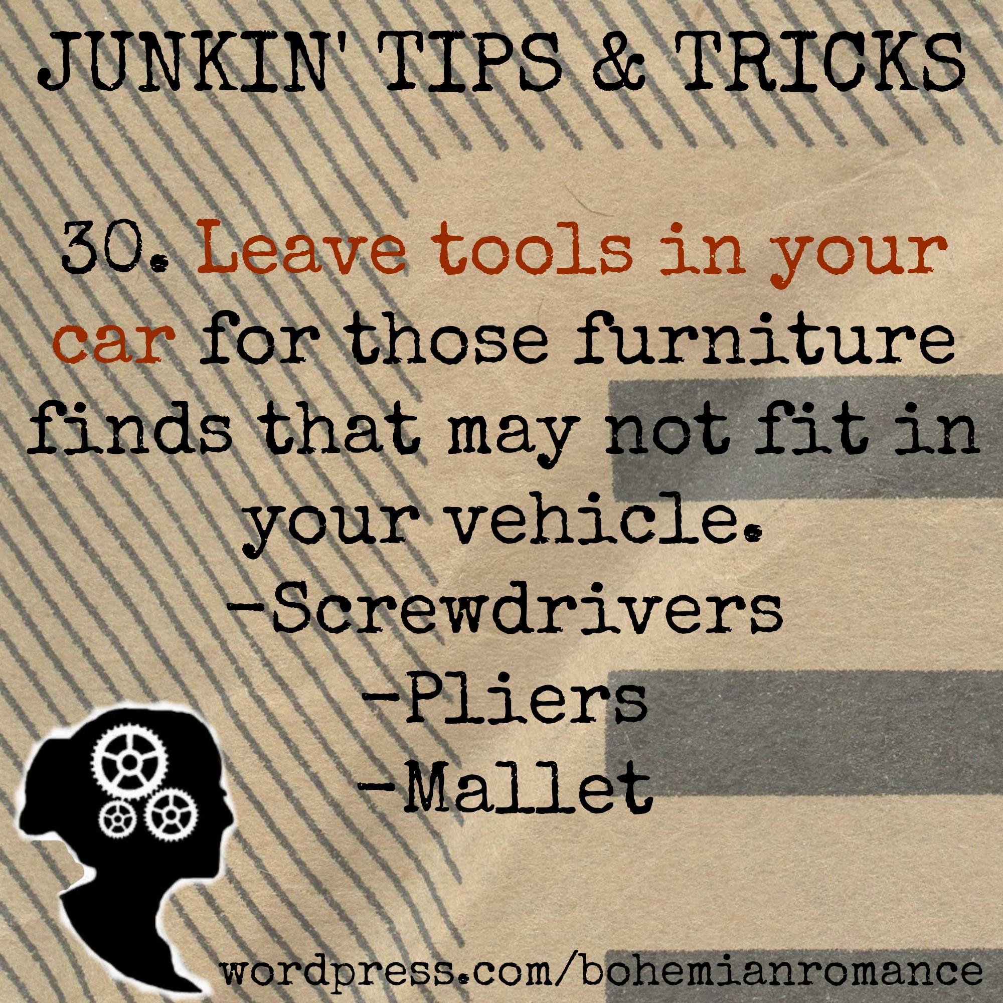 Junkin Tips 30