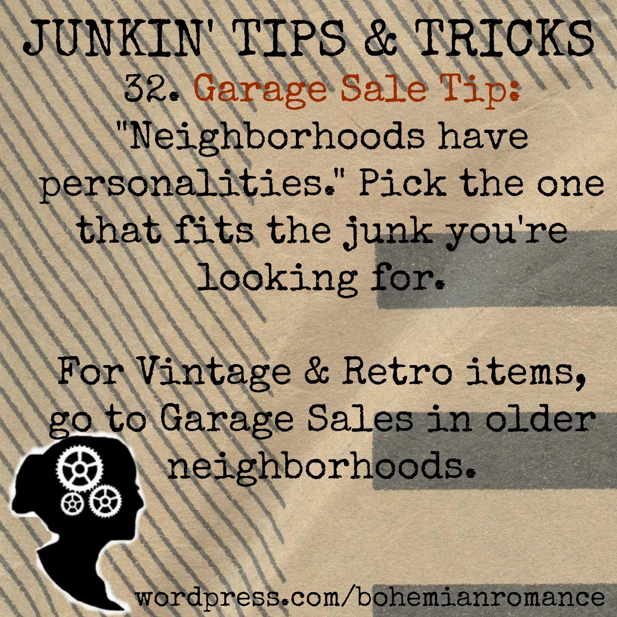 Junkin Tips 32