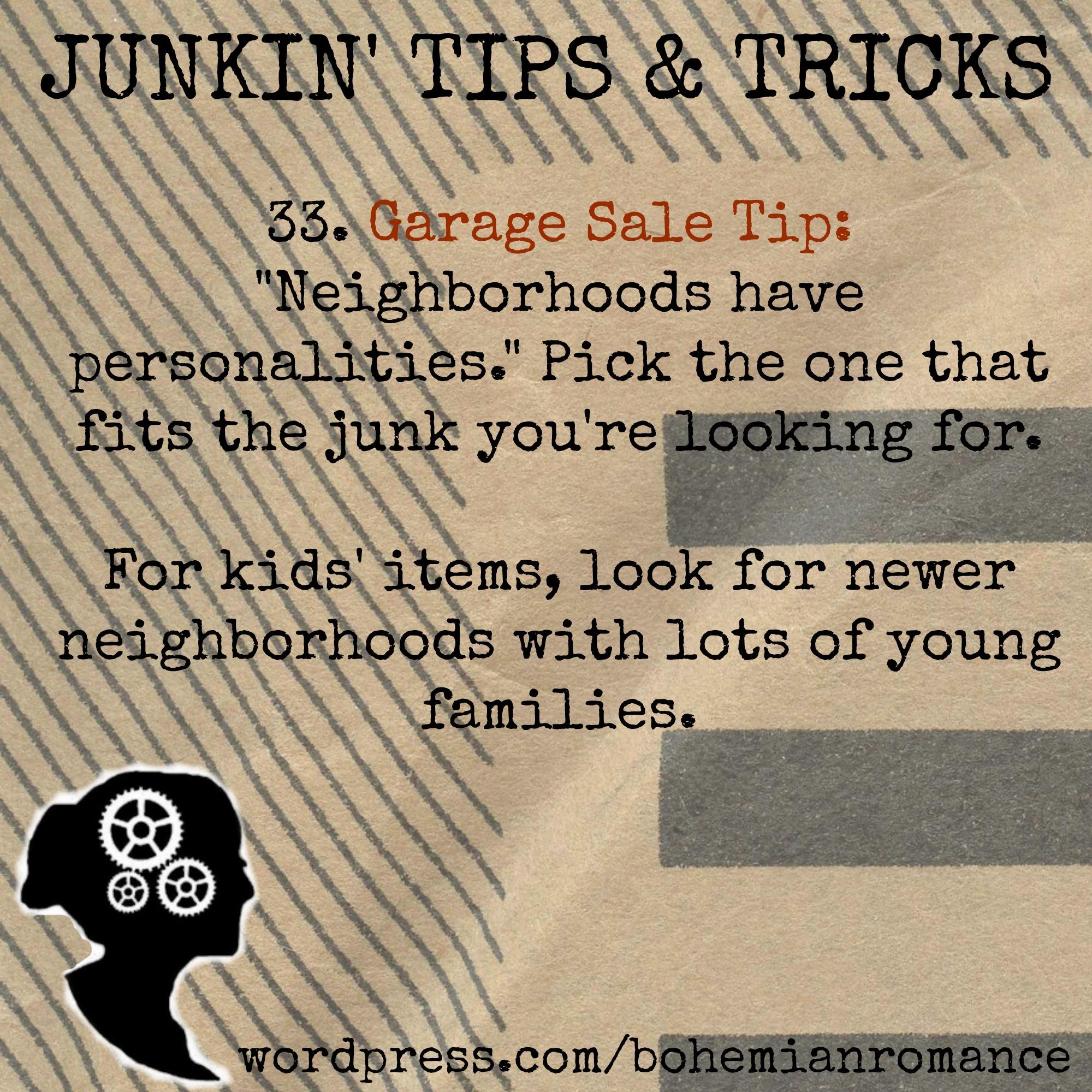 Junkin Tips 33