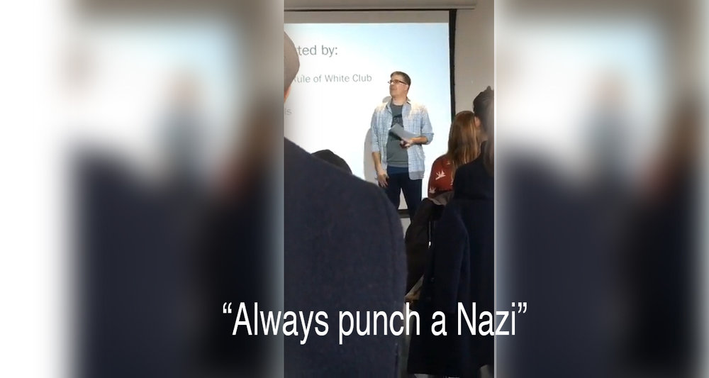 "Professor Michael Capello of University of Saskatchewan, ""It's Ok to be Against Whiteness"", March 12, 2018, at Trent University"