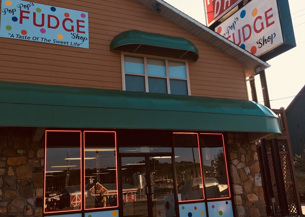 - Pop Pop's Fudge Shop was founded on the idea of family, friends, and fun. We have been making sweet treats for over 15 years! We are dedicated to providing top quality customer service and sweet treats that remind you of your childhood. Here at Pop Pop's Fudge Shop we make 30 pound loaves of fudge, fresh daily . We also make homemade, hand dipped chocolates fresh in the shop. We have at least 12 different flavors of fudge at all times. You can come by and see the magic in person, any day of the week!