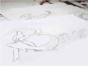 "Artist & Designer Aleksandrina Stefanova sketched the Briora ""B"" by hand."