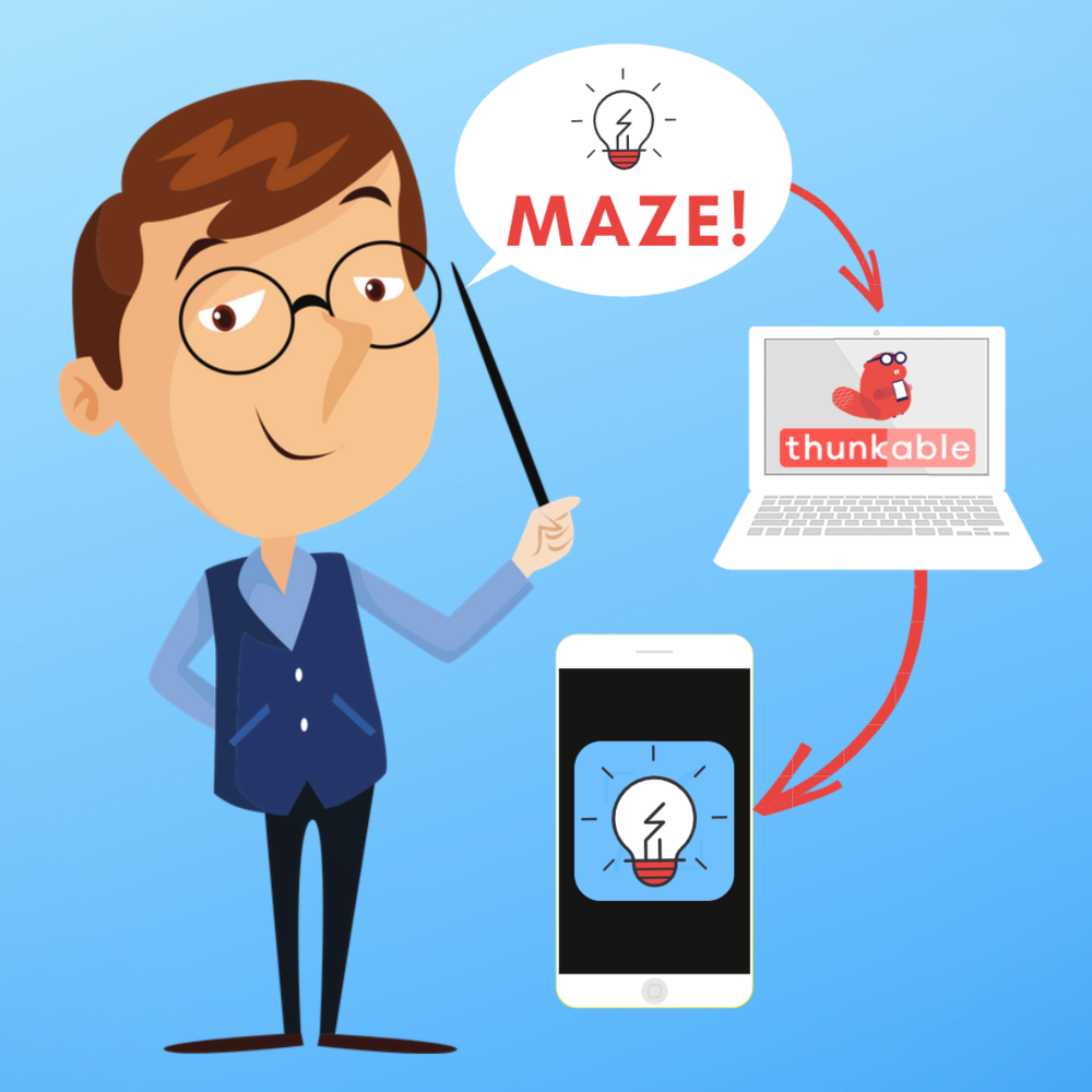 Thunkable Maze App - Who said you can't create your own app? Join me as I walk you step by step through how I created my own maze game app using Thunkable. You CAN do this! Download the 64-page guide or watch the 2-hour live stream.