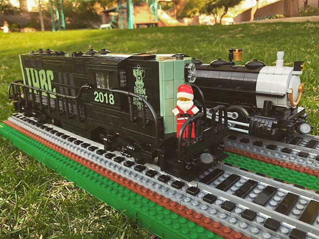 Merry Christmas 🎄🎁 from us here at Iron Horse Brick Co.  Looking forward to an exciting 2019!  #IronHorseBrickCo #IHBC #LEGO #CustomLEGO #LEGOTrain #LEGOTrains #AFOL #LGauge #MyOwnCreation #MOC #ModelTrain #ScaleModel #legostagram