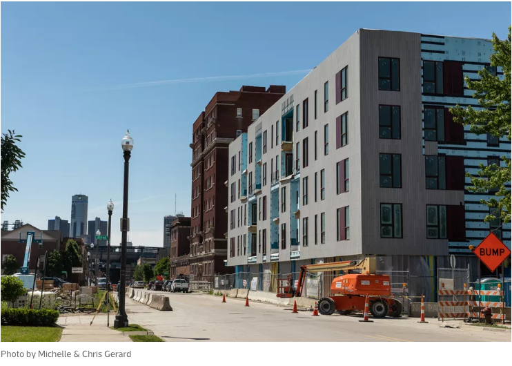 Get ready for a wave of residential development that started in 2018 - The first residents have moved in at City Modern in Brush Park, and two projects in Corktown are nearing completion. All told, approximately 2,000 new rental units will hit the market in 2019. This would be a modest supply in many cities, but in Detroit it's a bona fide construction boom. The vacancy rate stands at 3.1% and net absorption last year was 2,400 units, so while the new supply may slow rental growth, it's unlikely to result in a glut of new apartments.
