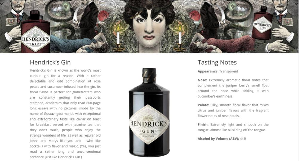 Hendrick's Gin for Prestige Spirits