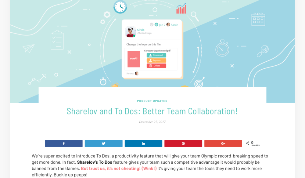 Sharelov and To Dos: Better Team Collaboration!