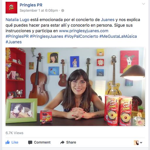 Pringles y Juanes - Natalia Lugo (2017)