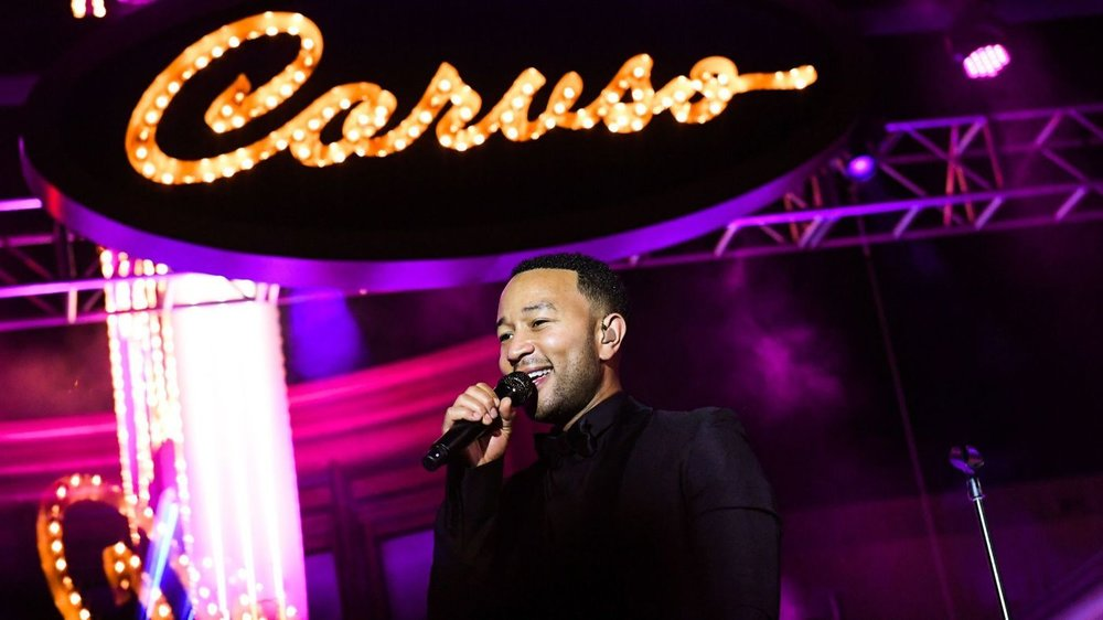 John Legend attends Caruso's Palisades Village Opening Gala at Palisades Village on September 20, 2018 in Pacific Palisades, California.