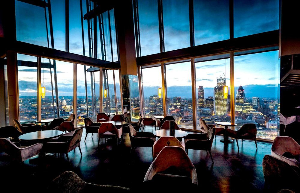 1. Aqua Shard - Aqua's low-lit restaurant on Level 31 of the Shard is at just the right height for visitors wanting to really appreciate London's riverside cityscape.