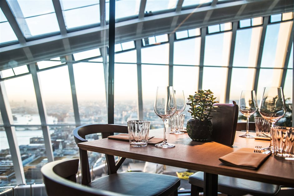 3. Darwin Brasserie - Near the top of the Walkie Talkie, this all-day brasserie promises jaw-dropping views of London.