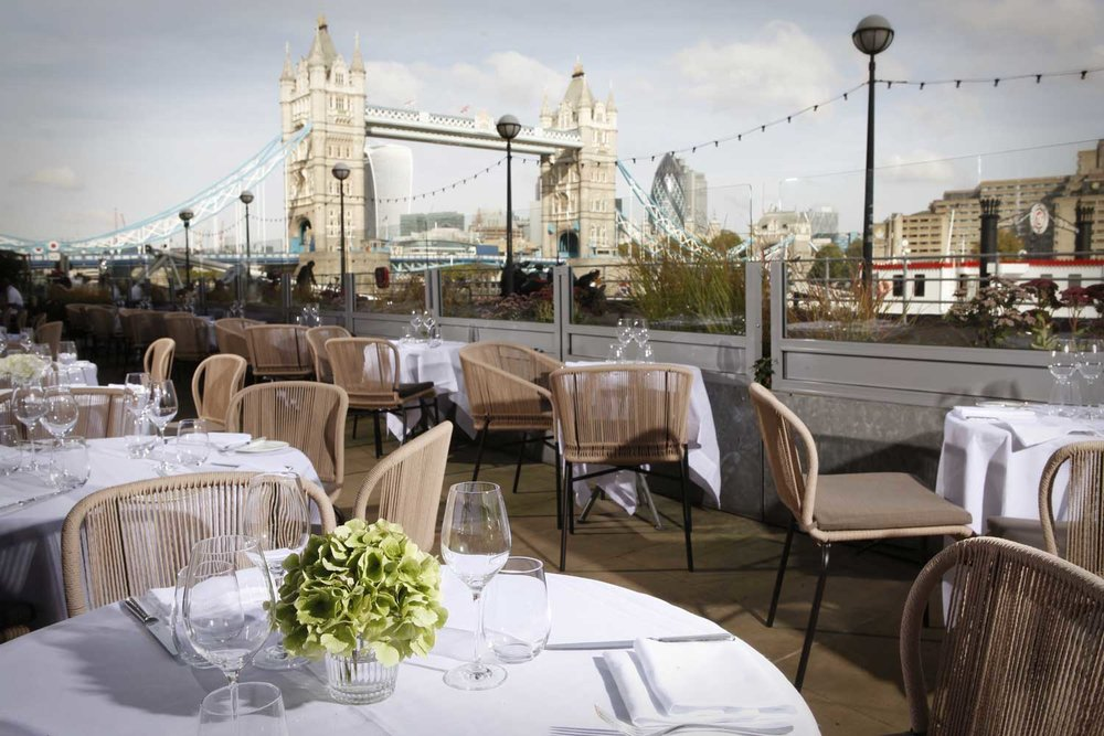 5. Le Pont de la Tour - Dining on the outside terrace with a view of Tower Bridge feels like posing for a London tourist brochure.